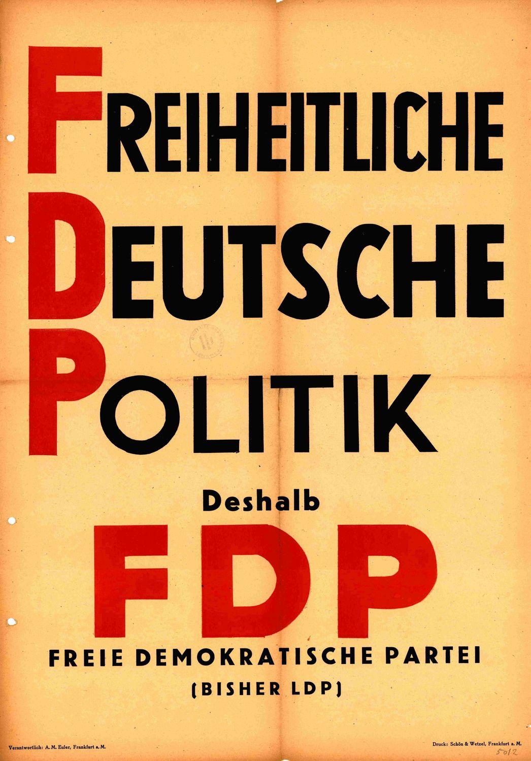 Partei Wahlplakat